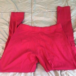 Pants - Go colors bright pink leggings, size M
